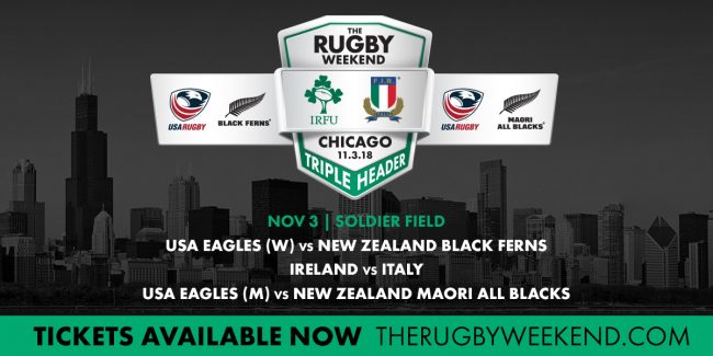 Six Nations Champions Ireland return to Chicago to take on