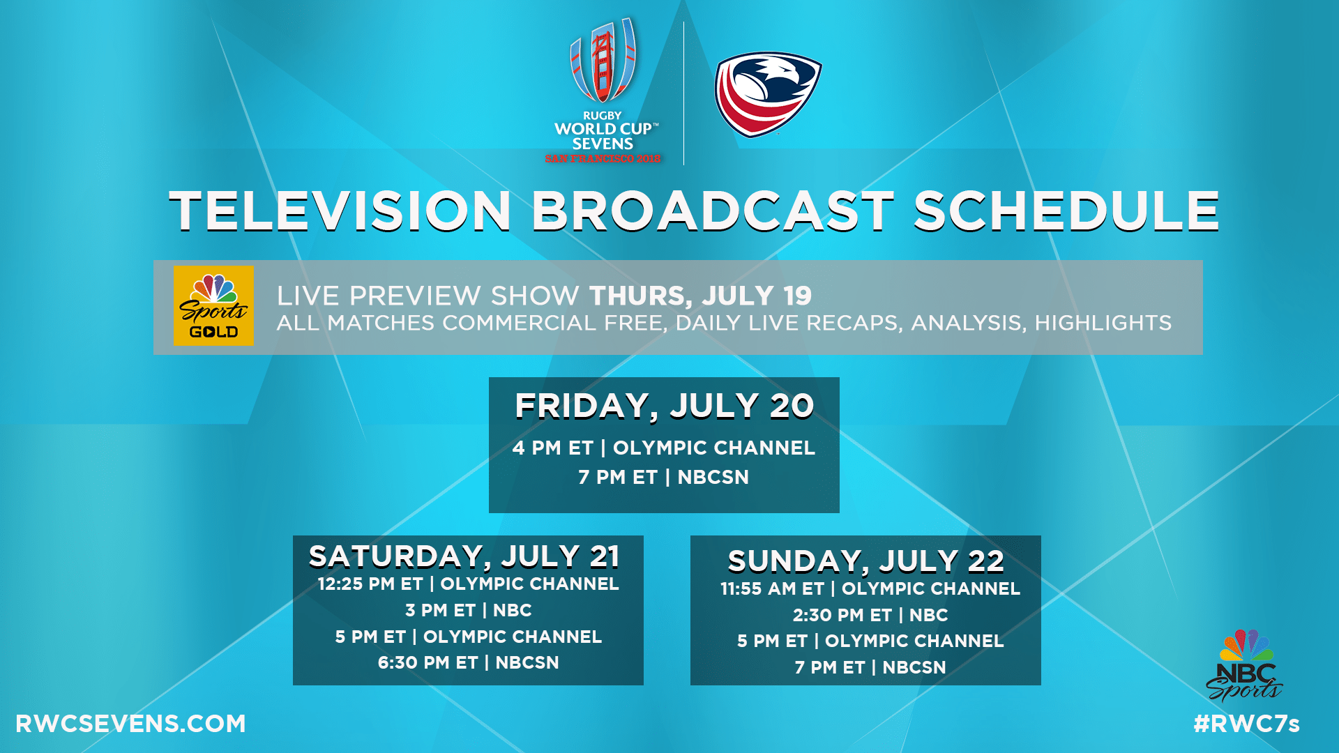 Nbc To Present Comprehensive Coverage Of 2018 Rugby World Cup Sevens In July Usa Rugby
