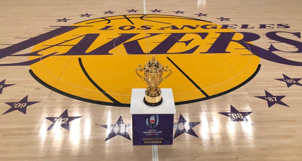 Stars and stripes for Webb Ellis Cup as Rugby World Cup 2019 Trophy Tour visits Los Angeles