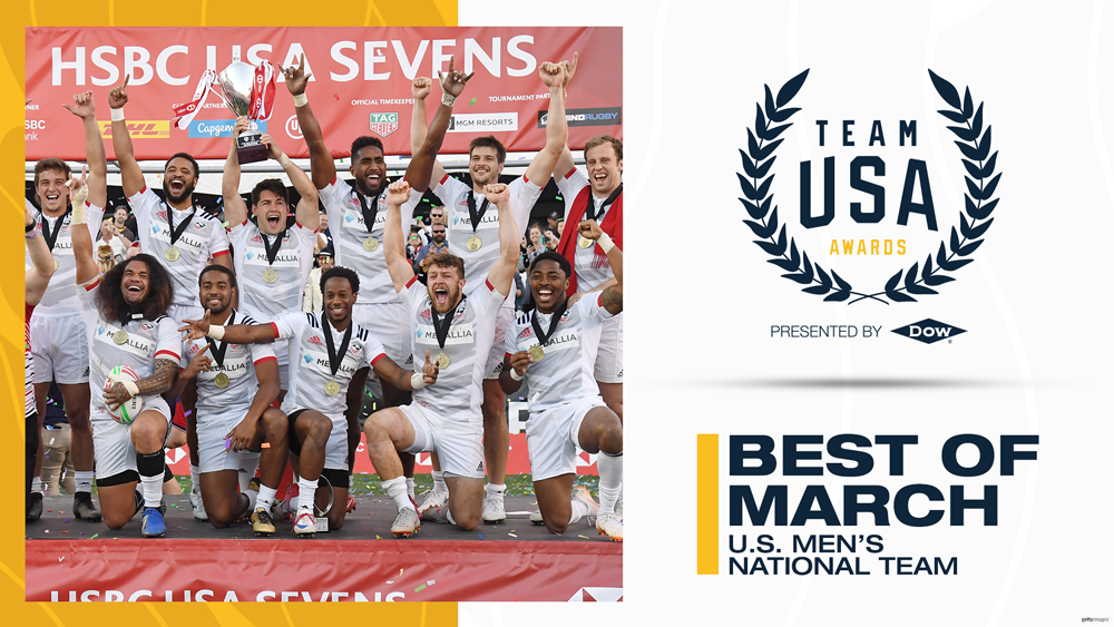 Men's Eagles Sevens named Team of the Month in Team USA Best of March Awards