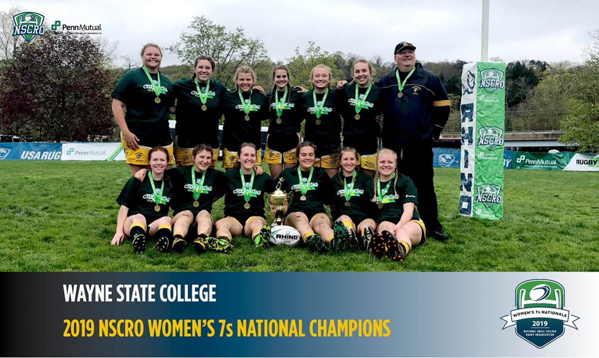 Wayne State College Crowned 2019 NSCRO Women's 7s National Champion