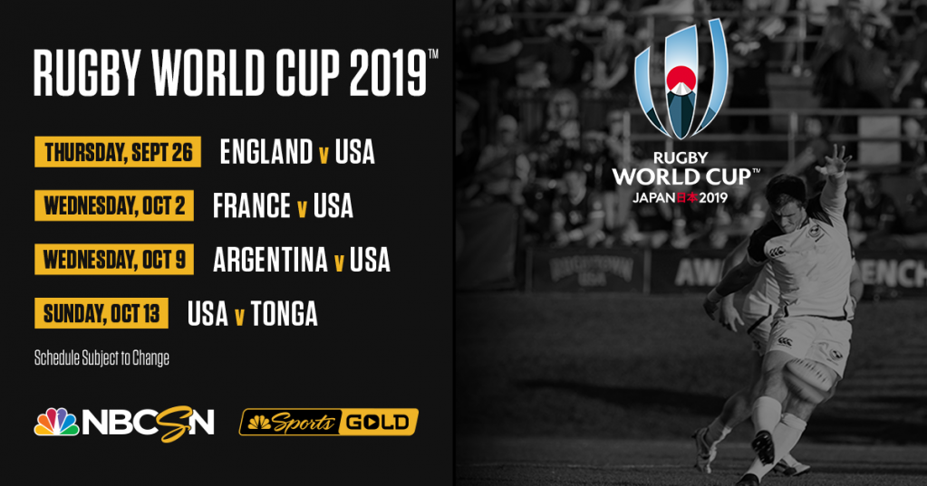 Nbc Sports To Provide Most Comprehensive U S Coverage Ever For Rugby World Cup Usa Rugby