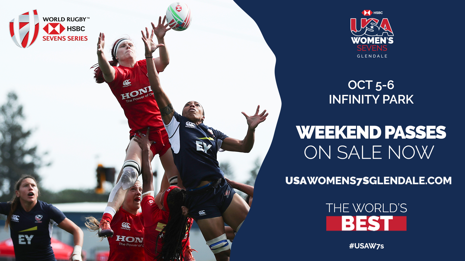 Weekend passes available for HSBC USA Women's Sevens in Glendale this October