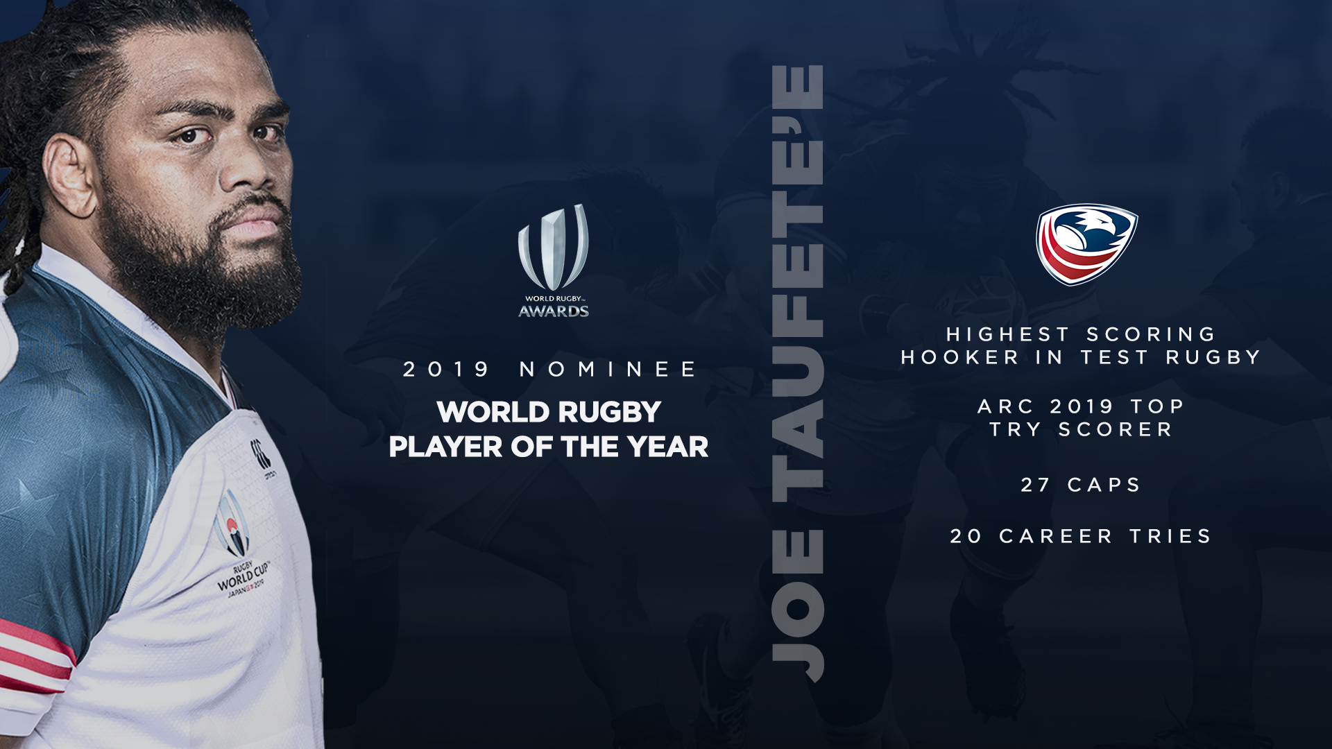 USA Eagle Joe Taufete'e nominated as World Rugby Men's Player of the Year